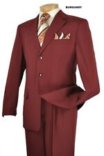 MENS SINGLE BREASTED 3 BUTTON DRESS SUIT + FREE garment bag !