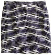 J.Crew Postage Stamp Mini Skirt in Navy Tweed Size 6, 8 NWT Navy Color