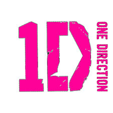 ONE DIRECTION PINK LOGO  IRON ON TRANSFER 3 SIZES! FOR LIGHT OR DARK FABRIC