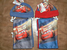 BOYS DISNEY PIXAR CARS  2 PIECE FLEECE HAT & SCARF SET AGE 3 - 6 YEARS