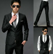 US SA-1 New Mens Luxury  Stylish Slim Fit Sexy Top 3 Parts Suits 2 Colour