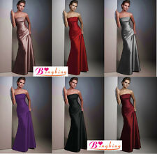 New 7 color taffeta  Bridesmaids' prom ball size : 6.8.10.12.14.16.18