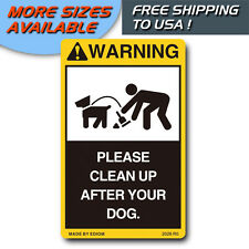 FUNNY DECALS PLEASE CLEAN UP AFTER YOUR DOG NO POOP NO PEE FOR PUBLIC AREA HOME