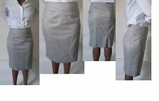 next grey red spot tailored formal office work pencil skirt uk size 14 BNWT