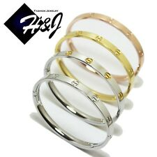 Women's Stainless Steel 5mm Gold/Silver/Rose Gold Screw Heads Bangle/Handcuff