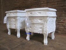 BESPOKE             French style  very chic Rococo Bedside Cabinet shabby look