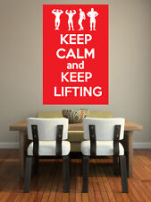 Keep Calm and Keep Lifting - Weight Training Bodybuilding Theme- Wall Art Design
