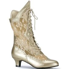 Victorian Burlesque Lace up Calf Boot for Fancy Dress, Theatre and Fun