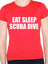EAT SLEEP SCUBA DIVE - Diving / Deep Water / Novelty Themed Women's T-Shirt