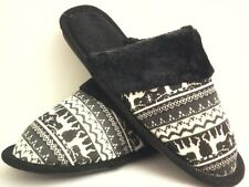 BLACK  HOUSE SHOES  SLIPPERS NEW FREE SHIPPING SIZE 5 THRU 10