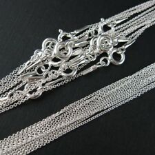 Wholesale Sterling Silver Necklace Chains Tiny Plain Cable Chain 1mm. Bulk Lots