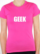 GEEK - Novelty / Humorous / Funny Themed Womens T-Shirt - Various Colours