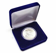VELVET DISPLAY BOX WITH AIRTITE COIN CAPSULE HOLDER MODEL H for Silver & Gold