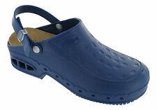 DR.SCHOLL ORIGINALI NEW WORK FIT B/S WORKTIME ZOCCOLI IN GOMMA CLOG BLU SCURO