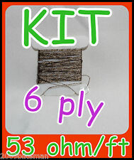 Super Conductive Thread KIT- 53 ohm/ft - Iphone/Ipad gloves- Needle and threader