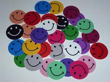 """ASSORTED COLORS SMILEY FACE PRECUT 1"""" INCH BOTTLECAP IMAGES SCRAPBOOKING CRAFTS"""