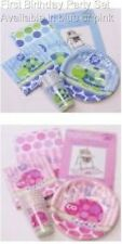First Birthday Party Set for 8  Cups Plates Napkins Table cover High Chair Kit