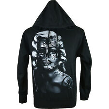 Marilyn Monroe Hoodie Sweater - Rockabilly Sugar Skull Sweat Shirt Men & Womens