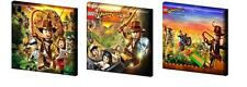 "LEGO INDIANA JONES - CANVAS PICTURES -FREE POST- 6"",8"",10"" + 12"" from £11.99"