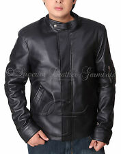 NEW REPLICA CALIFORNICATION HANK MOODY COW HIDE BLACK LEATHER JACKET