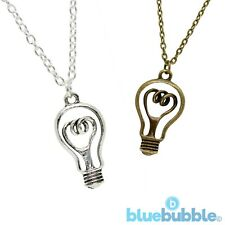 FUNKY LIGHT BULB NECKLACE CUTE KITSCH QUIRKY STYLE BRIGHT VINTAGE IDEA BOHO CHIC