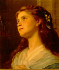 Art Print - Portrait Of Young Girl - Sophie Gengembre Anderson 1823 1903