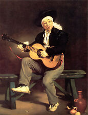 Photo/Poster - The Spanish Singer The Guitar Player - Manet Edouard 1832 1883