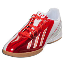 ADIDAS MESSI F10 IN INDOOR SOCCER SHOES FUTSAL WHITE/RED