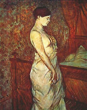 Art Photo Print - Madame Poupoule In Chemise By Her Bed - Toulouse Lautrec Henri