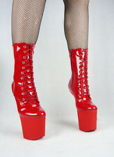 New Sexy Pony Ankle Boots/Lady GAGA shoes Red UK, Every Size!Fetish/ballet