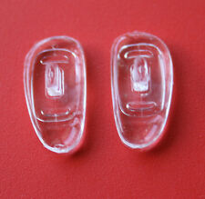 5 pairs High Quality SILICONE eyeglass NOSE PADS D-SHAPE push in asymmetric