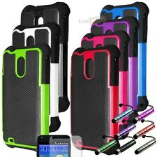 Rugged Hybrid Hard Case Cover For Samsung Galaxy S2 D710 Epic Touch Boost Mobile