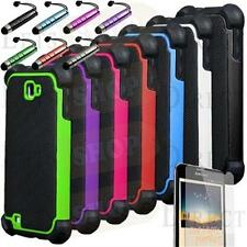 Rugged Armor Hybrid Impact Hard Case Cover For Samsung Galaxy NOTE N7000 i9220