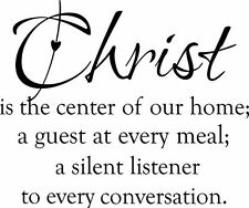 Christ is the Center  Vinyl Wall Home Decor Decal Quote Inspirational Adorable