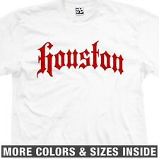 Houston Thug T-Shirt - H-Town 713 City Streetwear Old English - All Sizes/Colors