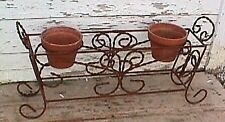 """32.5"""" Wrought Iron Pot Holder for your Garden That Hold 3 Clay Pots Plant Stand"""