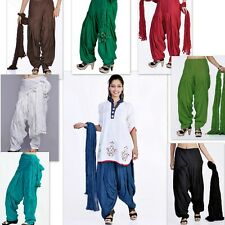 20 Colors Indian Patiala With Dupatta Set Salwar for Kurti Kameez Tunic Kurta