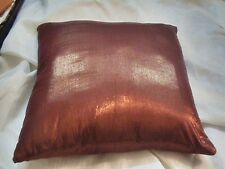 Shimmering solid pillow case brocade polyester copper shade cushion coverHD EHS