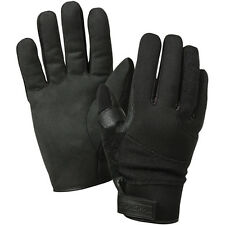 Black Leather Cold Weather Cut Proof Kevlar Search Duty Gloves