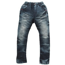 JJLKIDS New Demin Jeans for boys Embroidery Letters Simple Classic 3-16 Years
