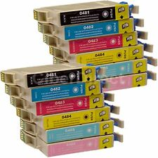 12 Generic Replacements for Epson T0487 Printer Ink Cartridges. UK VAT Invoice.