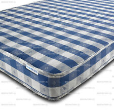 BUDGET MATTRESS CHEQUERED ALL SIZES AVAILABLE MANUFACTURED IN UK CHEAP MATTRESS