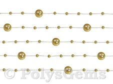 5 X 1.3 METRE OF BEADED GARLANDS  - CHRISTMAS WEDDING TABLE DECORATIONS