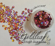 Nail Art Glitter Studs sequin discs dots 3mm - Pink Holographic