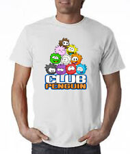 PUFFLE CLUB PENGUIN GROUP 2 T-SHIRT FRUIT OF THE LOOM COTTON / GILDAN POLYESTER