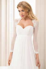 Bridal Ivory / White Tulle And Lace Bolero Shrug Wedding Jacket  S/M-L/XL -B117
