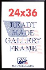 24 x 36 Deluxe Poster Frame Pack of 6 Frames - Black, Silver or Gold