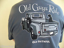 """Old Guys Rule """"Old Faithful""""  T-shirt with free decal"""