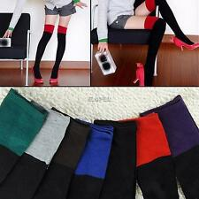 Womens Sexy Opaque Long Over The Knee Thigh High Stockings Tube Socks Leg Warmer