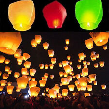 5x 10x Cylindrical Lantern Chinese paper Wishing lamp Wedding flying sky Lantern